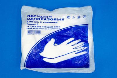 Перчатки ПЕ размер L (10000100шт)