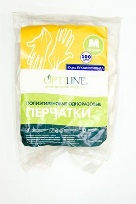 Перчатки ПЕ размер L Optiline (10000100шт)