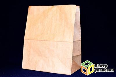 Пакет бумаж 320-180-390 коричн на вынос (1500шт) типа McDonald's