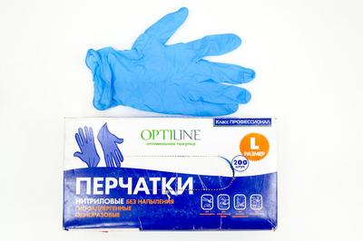 Перчатки виниловые L Optiline (11000 - 100шт)
