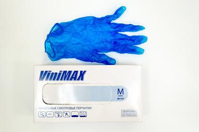 Перчатки виниловые M VINI MAX (11000100шт)