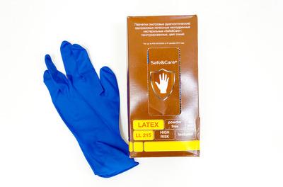 Перчатки латексные L особ.прочн Gloves High Risk Safe&Care коричневые 19гр (150050шт)