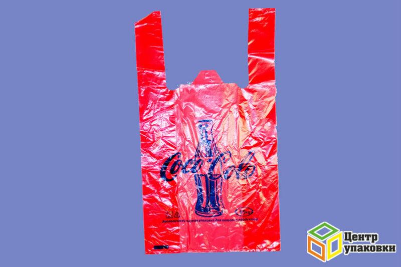 Пакет майка Кола цвет.33-52 ЭКОНОМ(1100050шт) без печати