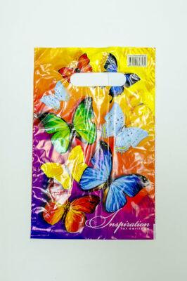 Пакет майка ПВД в ассотим.30-20 с вырубной ручкой 30мкр (13000100шт)ИНТЕРПЛАСТ