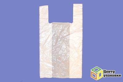 Пакет майка ПНД  28+15-50см  белая 15мкр (12000100)