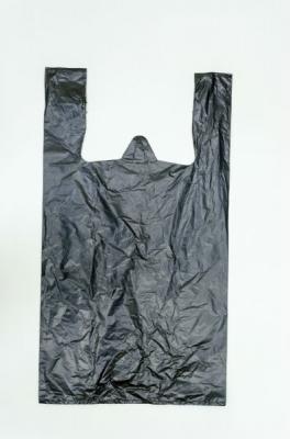 пакет майка ПНД медведь чёрный без печати 33-56 (1-2000-100шт)сибпласт