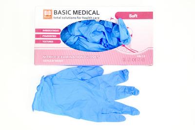Перчатки нитриловые размер S синие (11000100шт)