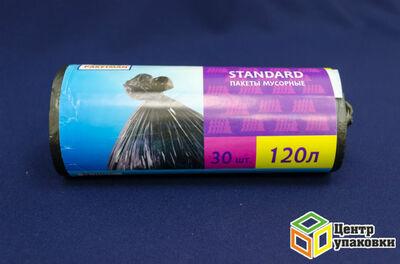 Мусорный пакет ПНД 120л Пакман  (1-25-30штрул)