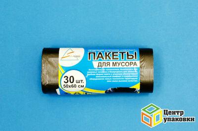 Мусорный пакет ПНД 30л (1-100-30шт-рул) Сибпласт