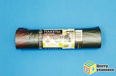 Мусорный пакет ПНД 35л с завяз.черн. OPTILINE  (1-25-15шт)