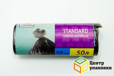 Мусорный пакет ПНД 50л Пакман (1-40-50шт-рул)
