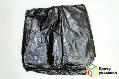 Мусорный пакет 240л в пластах ПВД черный 60 мкр (1-100-50шт)