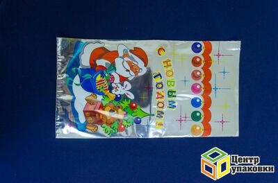 Пакет подарочный Новый год 2035 в ассорт. 30мкр (2)