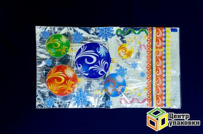 Пакет подарочный Новый год 2035 в ассорт. 30мкр (100-1000) МР