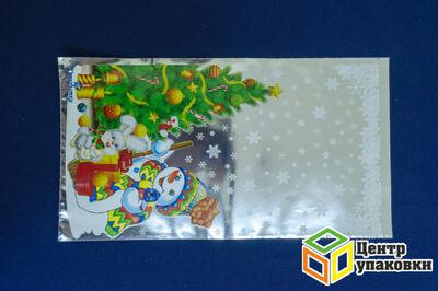 Пакет подарочный Новый год 2035 в ассорт. 30мкр (1001001) МР
