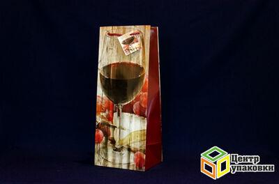Пакет подарочный бумаж лам. (под бутылку) 180100227 МИКС №1  (1360120шт)