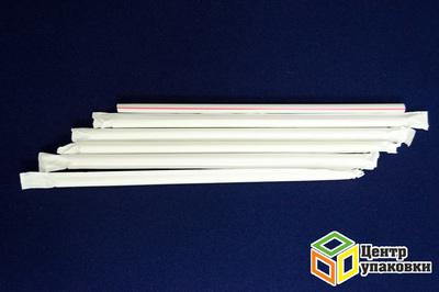 Трубочка Джамбо полоска 0,7×20,5см виндивидуальной упаковке (1-5000-500шт.)