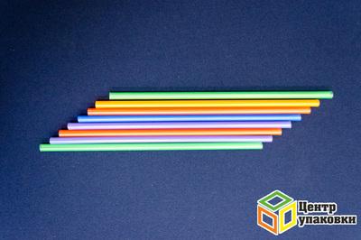 Трубочка Джамбо 0,8×24см цветная (1-20-250шт.)