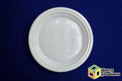 Тарелка Д 165 бел PS (12400100шт) Полиэр