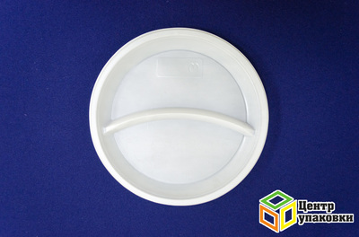 Тарелка Д 205 бел 2-х секц PS (11600100шт)