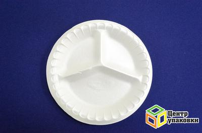 Тарелка Д 225 белая ВСП3-х сек (11200100шт) банкет
