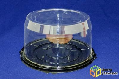 Емкость ПР-т-193 дно черное (1-200шт) без ребер, низкая крышка (1-100шт) без ребер