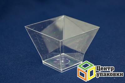 Форма Пагода 80×80мм PS 200мл прозрачная (12-40шт.)
