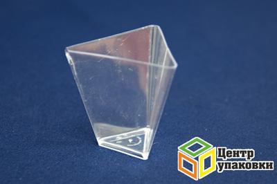 Форма Треугольник 67мм PS 70мл прозрачная (1-500-25шт.)