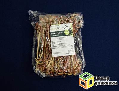 Пика бамбуковая Узелок 10см (1-30-100шт.)