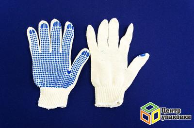 Перчатки ХБ ПВХ  4 нитки (10-500)