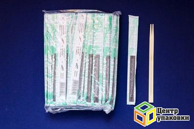 Палочки бамб для суши раздельные в бумаге 230мм (1-3000-100шт)