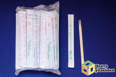 Палочки бамбуковые для суши сдвоенные в бумаге 230мм (1-3000-100шт)