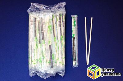Палочки бамб дсуши 230мм + зубочистка (1-3000-100шт) в пленке