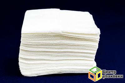 Салфетка бумажная Lime 1сл 18-24 см белые в наст. дисп. (1-100)