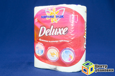 Полотенце бумажное 2 шт с втулкой Мягкий знак Delux (24кор)