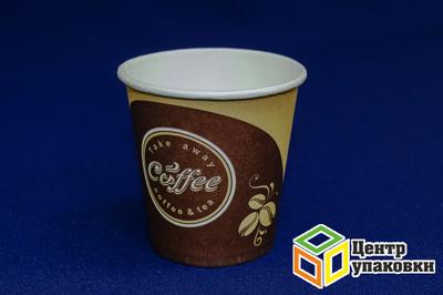 Стакан бумаж 150мл дгор Кофе (1-2000-80шт)