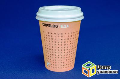 Стакан бумаж 300мл дгор CUPSLOG в ассортименте (1-800-50шт)