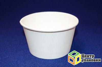 Чаша бумажная под салат 750мл белая двустороннее ламинирование ø146мм (1-800-50шт.)