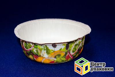 Чаша бумажная под салат 500мл TS2 cрисунком (1-350-70шт.)