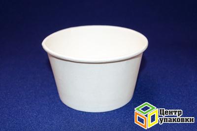 Чаша бумажная под суп/мороженое белая 500мл (1-500-50шт.)