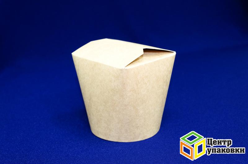 Контейнер бумажный 500мл Крафт без лого  (1-500-50шт.)