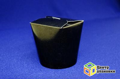 Контейнер бумажный 500 мл черный без лого (1-500-50шт.)
