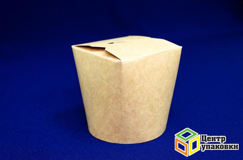 Контейнер бумажный 750мл Крафт без лого (1-500-50шт.)