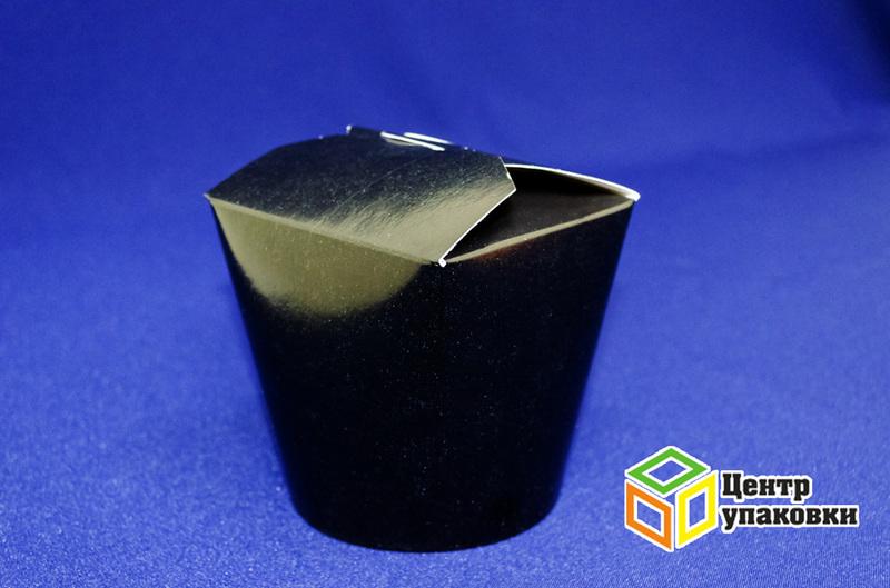Контейнер бумажный 750 мл черный без лого (1-500-50шт.)