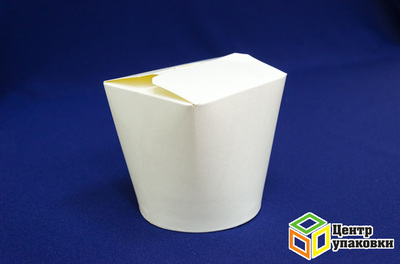 Контейнер бумажный China Pack 1л белый (1-500-25шт.)
