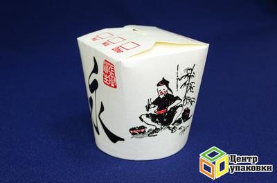 Контейнер бумажный China Pack 450мл срисунком (1-500-50шт.)