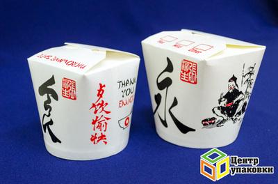 Контейнер бумажный China Pack 750мл срисунком (1-500-50шт.)