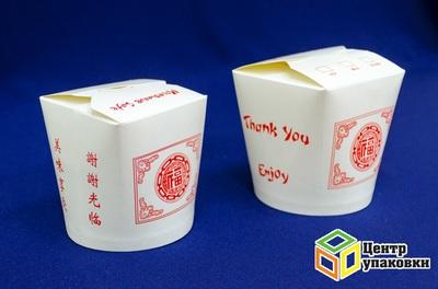 Контейнер бумажный China Pack 500мл+ 750мл скрасным иероглифом (1-500-50шт.)