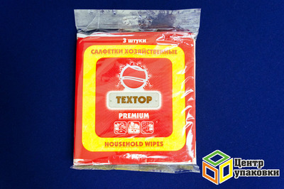 Салфетка вискозная Textop 35-35 (1-100-3шт) премиум