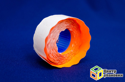 Этикетка волна оранжевая 26×16мм (200шт.) (800шт.)